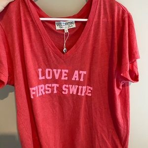 Red Wildfox shirt